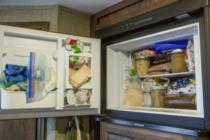 The freezer is always full!